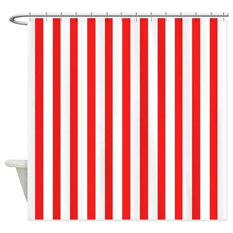 red and white shower curtain white and red stripes shower curtain by coolpatterns