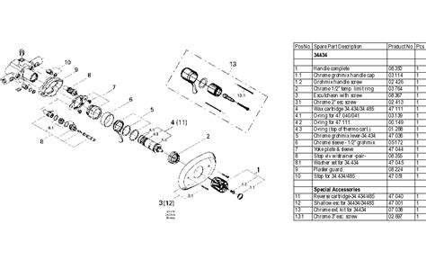 grohe 34 434 thermostatic valve parts