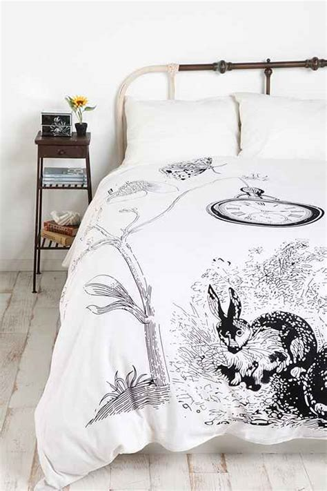 Beglance Cotton Rabbit Bed Sheet white rabbits duvet cover outfitters