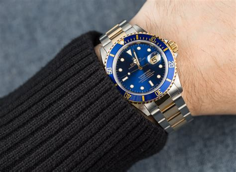 Two Tones rolex two tone blue submariner 16613