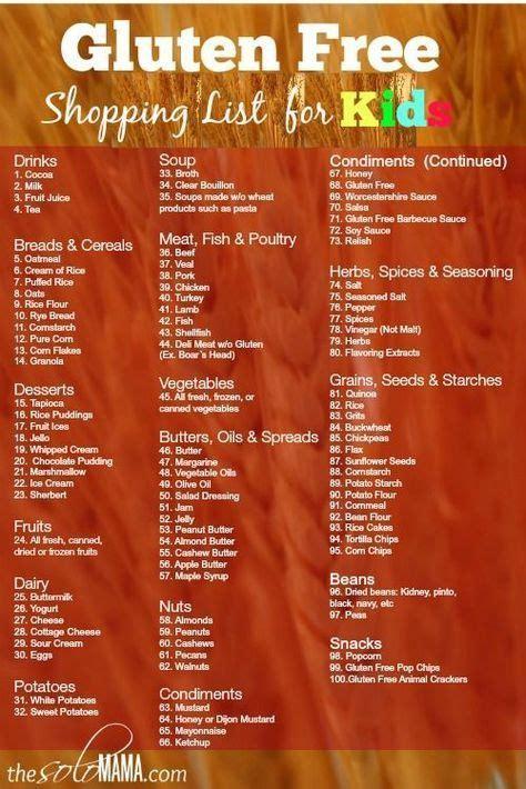 Gluten Free Pantry List by Best 25 Gluten Free Shopping List Ideas On