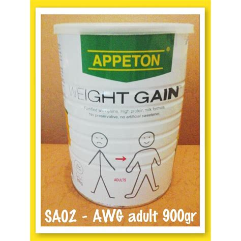 Appeton Weight Gain Dewasa appeton weight gain 900gr dewasa adults elevenia