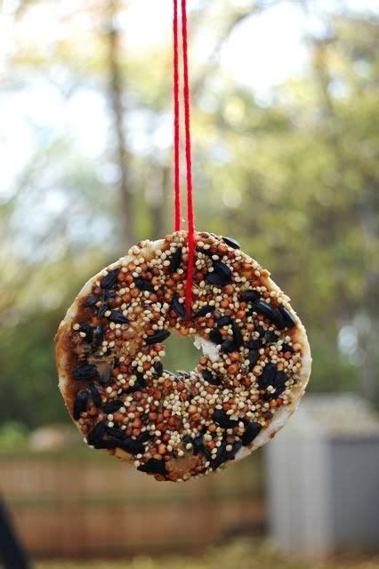 bagel birdfeeders art ideas pinterest