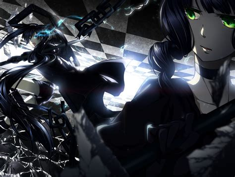 Black Master Db Brown black rock shooter blue dead master green anime