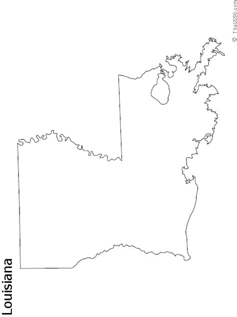 louisiana map drawing the us50 view the blank state outline maps