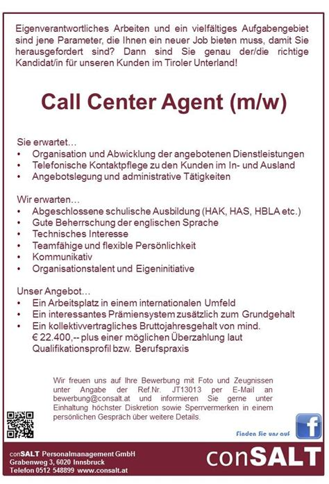 Bewerbung Call Center Outbound Bewerbung Call Center Lebenslauf