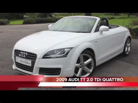 Audi Tt 4 Sitzer by Audi Tt 2 0 Tdi Convertible Ibis White Youtube
