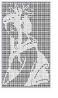 filet crochet pattern geisha by viktoria lyn craftsy