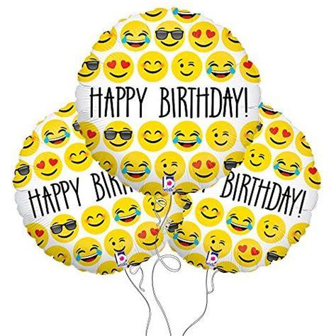 emoji birthday happy birthday emoji mylar balloon 3 pack party explosions