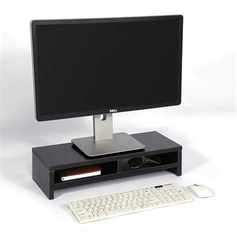 Computer Monitor Stand Desk Table 2 Tier Shelves Laptop Laptop Riser For Desk
