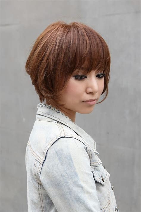 asian hairdo 60 age trendy short copper haircut from japan stacked short
