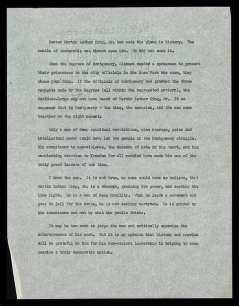 Martin Luther King Jr I A Essay by Essay Describing Mlk As A Historical Leader The Martin Luther King Jr Center For Nonviolent