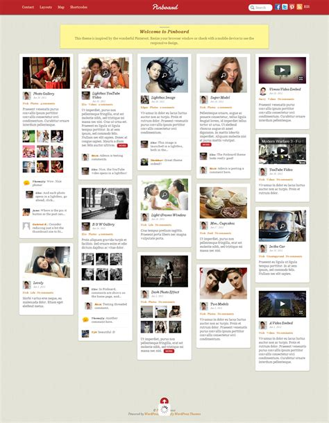 themes tumblr site 3 themes that enable you to create a website like pinterest
