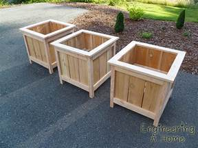 Planters Box Design by White Cedar Planter Boxes Diy Projects