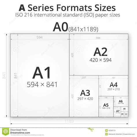 Eps Format Size | illustration with paper size of format a stock vector
