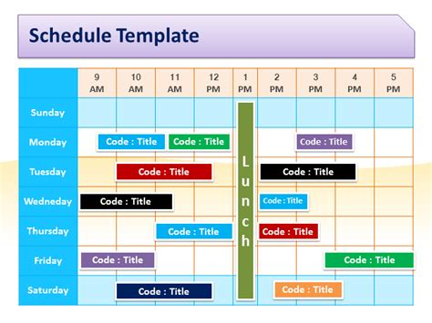 presentation schedule template schedule template for powerpoint pptx powerpoint