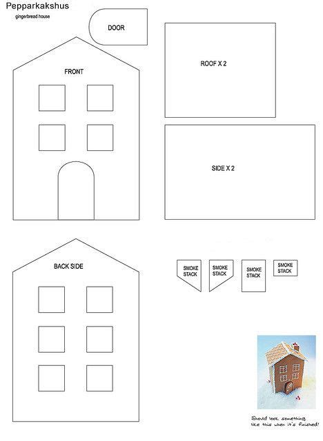 best 25 gingerbread house template printable ideas on