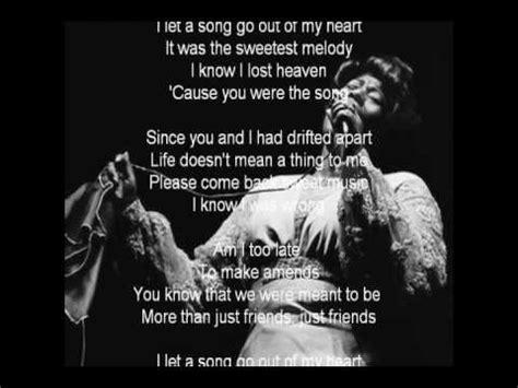 my lyrics ella fitzgerald ella fitzgerald i let a song go out of my lyrics