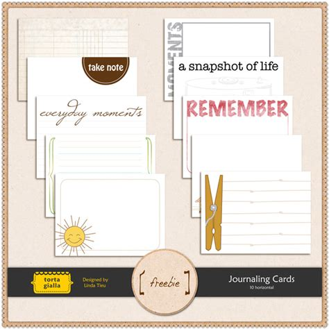 free journal card templates 250 free project journaling and filler cards fab