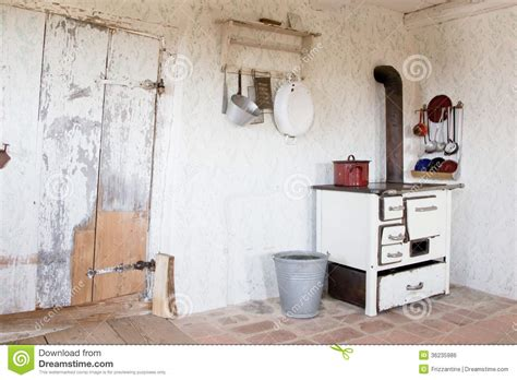 vintage kitchen at that time stock photo royalty