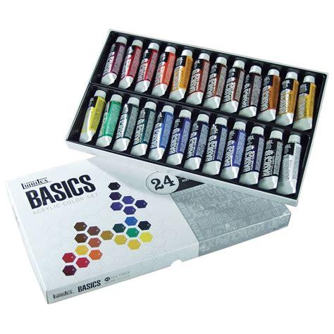acrylic painting set liquitex basics acrylic paint set of 24 paints