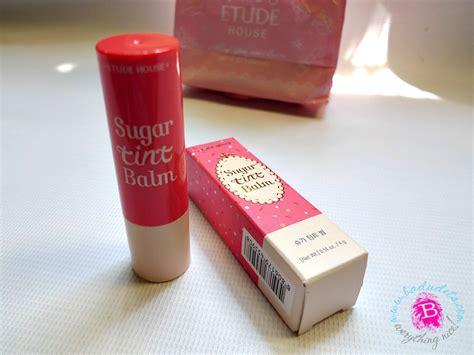 Etude Sugar Tint Balm etude house sugar tint balm in pink macaron a review