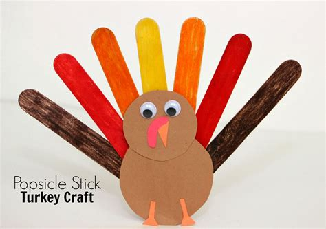popsicle stick craft for popsicle stick turkey craft for