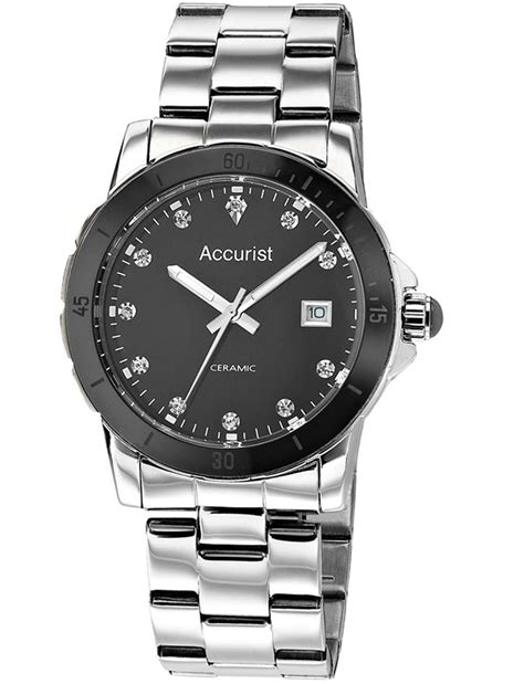 Accurist Ladies Stainless Steel Bracelet Strap Date Watch LB1780   Hollins & Hollinshead