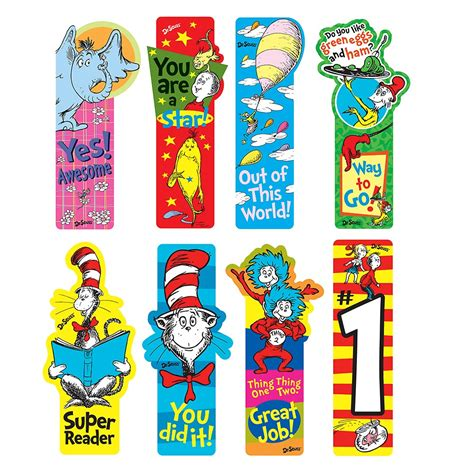 printable name bookmarks dr seuss school supplies dr seuss incentive bookmark