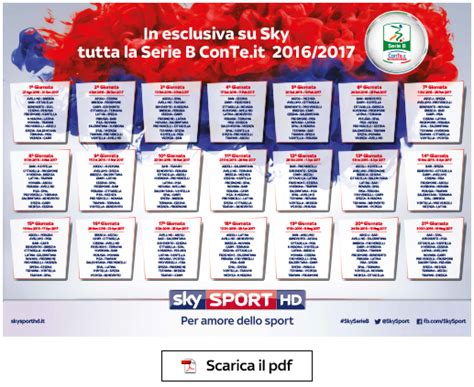 Calendario B Serie Calendario Serie A 2016 2017 Da Stare