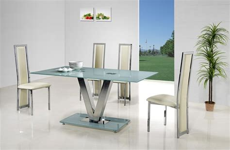 v glass dining table glass dining table and chairs