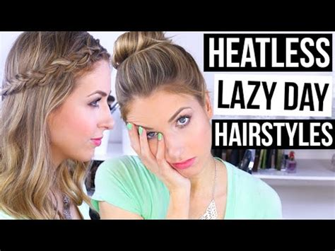 heatless hairstyles youtube easy heatless lazy day hairstyles my top 3 favorites