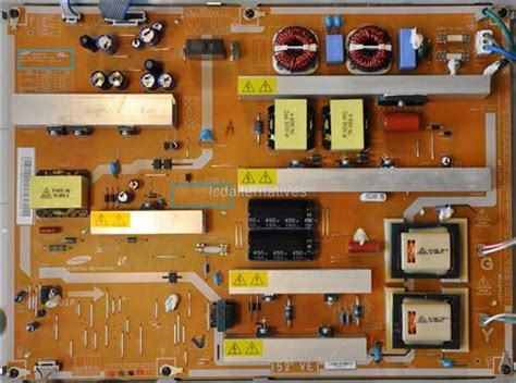 samsung tv capacitor repair kit samsung ln52a650a1f cs61 0365 02a lcd tv repair kit capacitors only not entire board