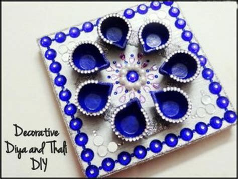 Handmade Diya Decoration - diwali greeting card ideas family net