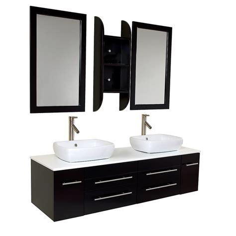 Modern Bathroom Vanities With Vessel Sinks 59 Inch Espresso Modern Vessel Sink Bathroom Vanity Uvfvn6119es59