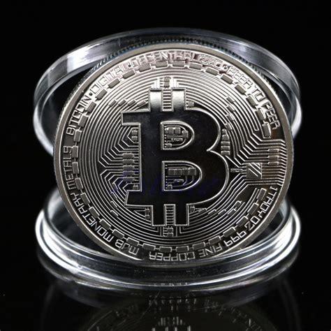 aliexpress bitcoin aliexpress com buy 1pc silver plated bitcoin coin