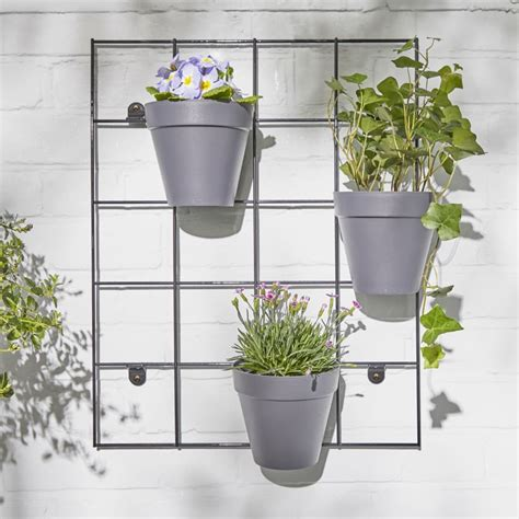 outdoor plant wall rack plant pots  london patch