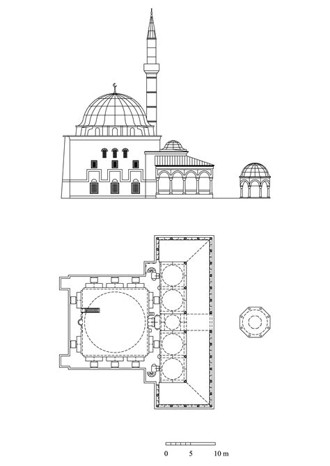 Small Simple House Plans Floor Plan And Elevation Of Haci Ahmed Pasa Mosque Archnet