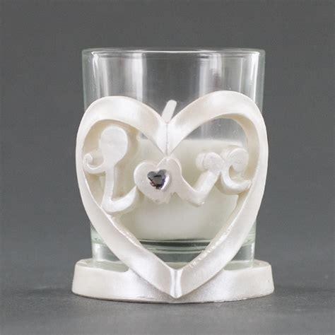 heart shaped candle holder glass votive holder