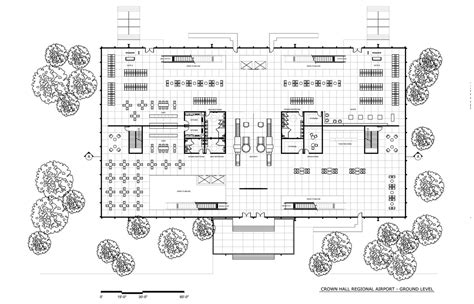 crown hall floor plan crown hall regional airport eric hidalgo archinect
