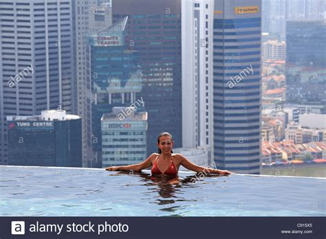 Top Marina the swimming pool on the top of marina bay sand hotel