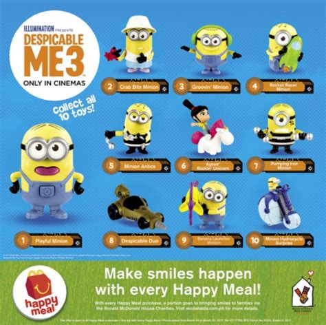 Happymeal Mac Donalds Karakter 3 go bananas with the minion happy meal and menu items at