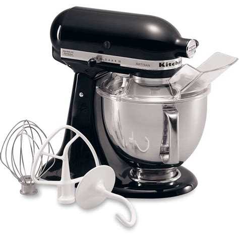kitchen aid stand mixer kitchenaid onyx black artisan 5 quart tilt stand mixer ksm150psob ebay