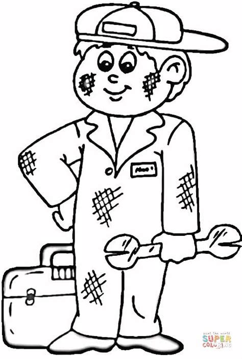 a mechanic coloring page free printable coloring pages