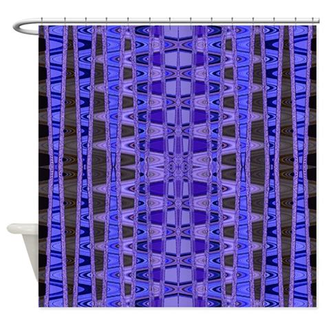 bright patterned curtains bright blue black abstract pattern shower curtain by