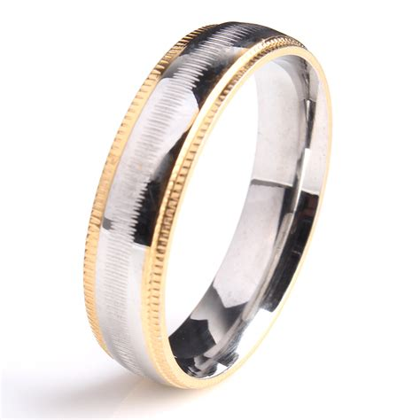 white gold filled wedding engagement gear mens