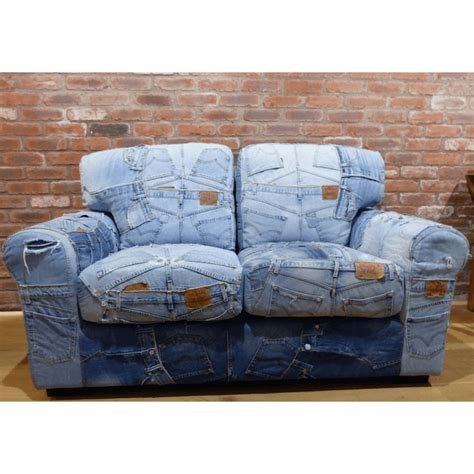 jeans couch blue recycled jeans denim sofa denim couch retro vintage