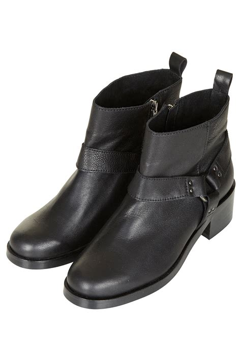 topshop harness ankle boots in black lyst