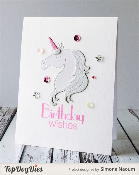 unicorn cards designs by top dies unicorn wishes card