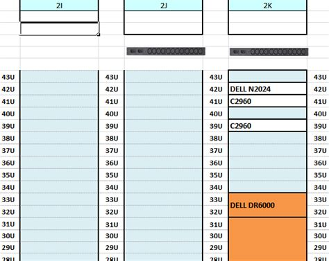 Turning Excel Sheet To Rack View For Data Center Warehouse Rack Layout Excel Template